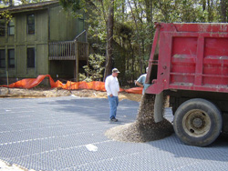Tufftrack Grass Paver Installation