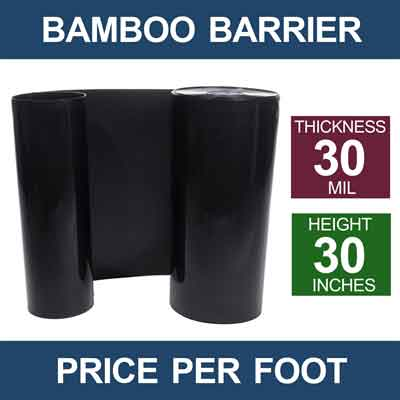 Water Bamboo Barrier 30 Inch Tall By 30 Mil Thickness